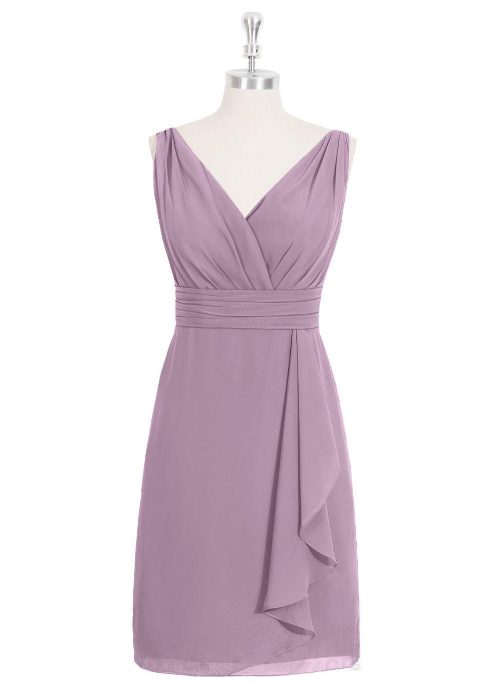 New Arrival Short Bridesmaid Dress Knee Length Sleeveless Chiffon Summer Custom Made V Neck