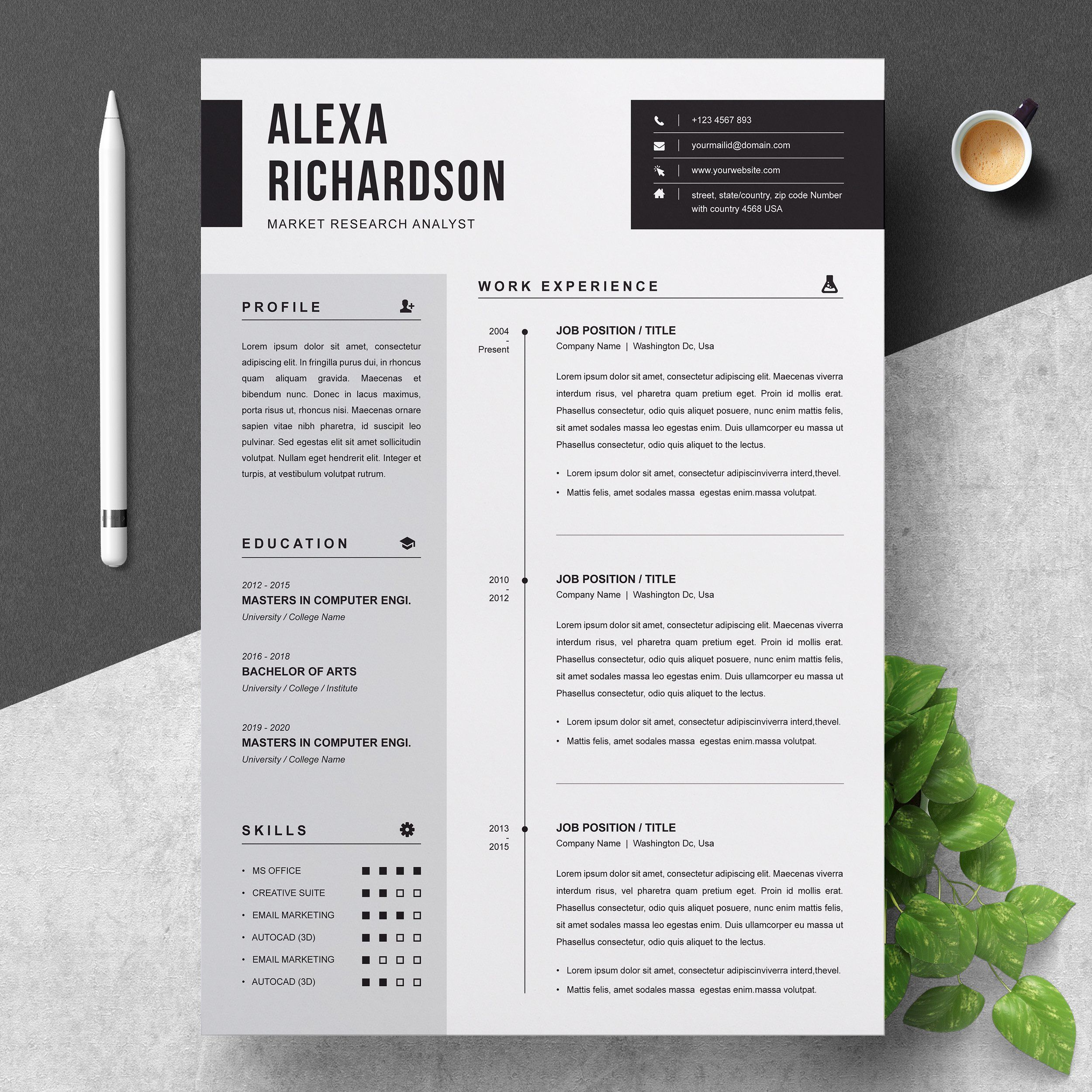 Resume Design, Resume Design Template
