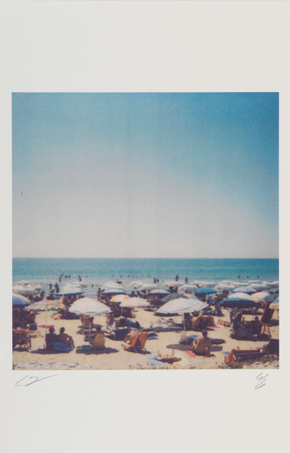 Photo by Cy Twombly, 2005, Miramare by the Sea, Gaeta, Colour dry-print, Edition of 6.Courtesy of Gagosian Gallery.