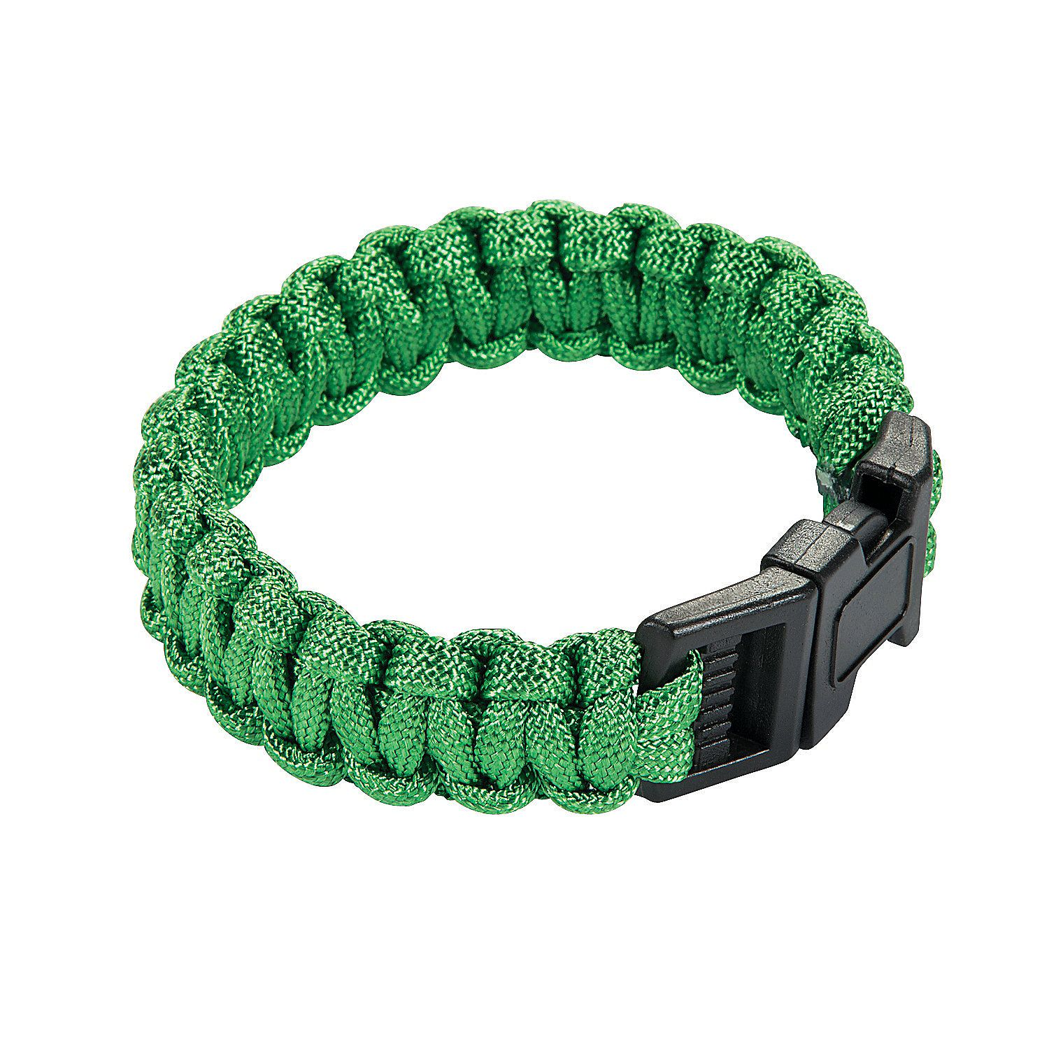 Adult's Green Paracord Bracelets - OrientalTrading.com