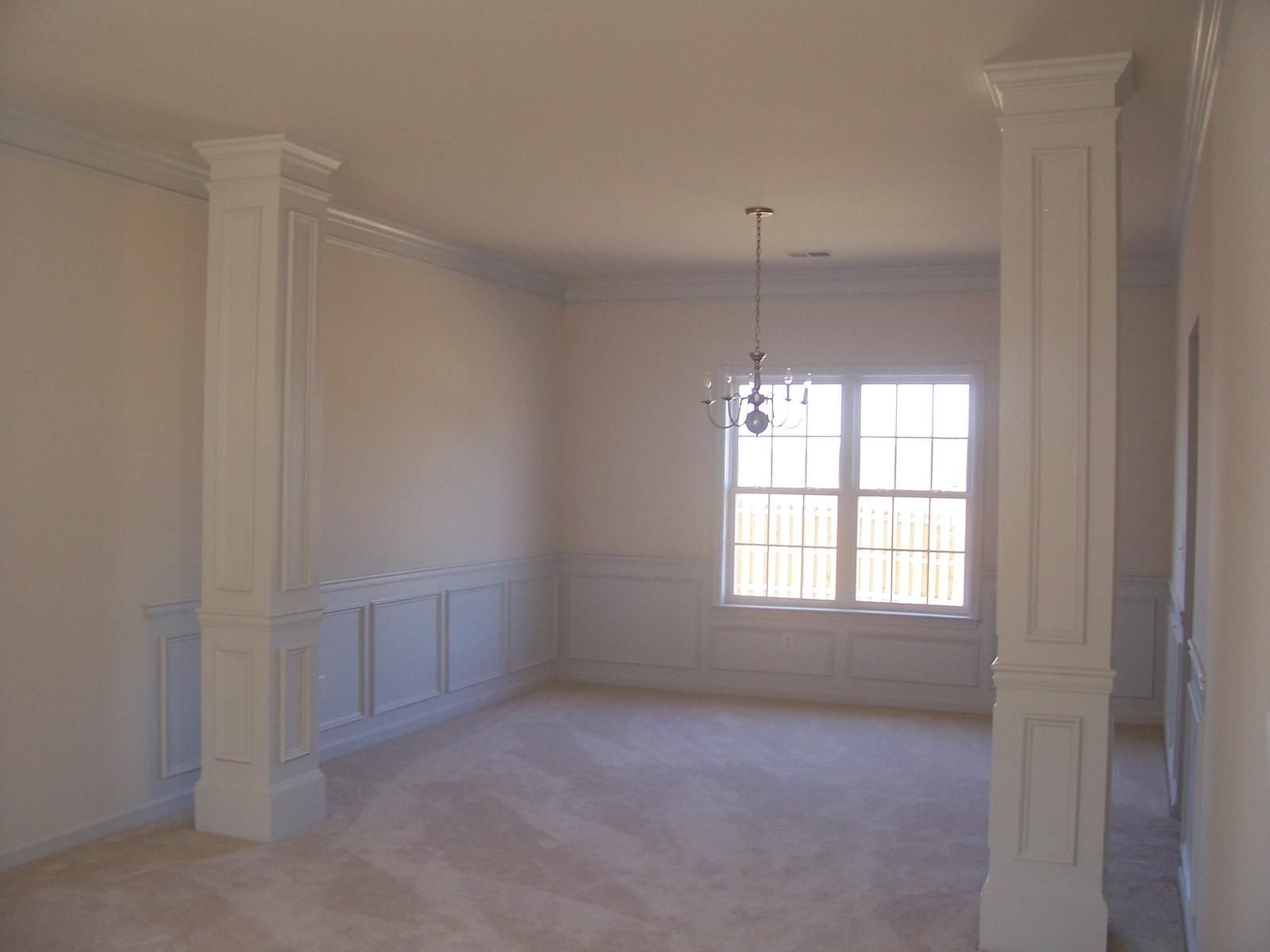 Living Room Columns simple detailed room | southern plantation home | pinterest