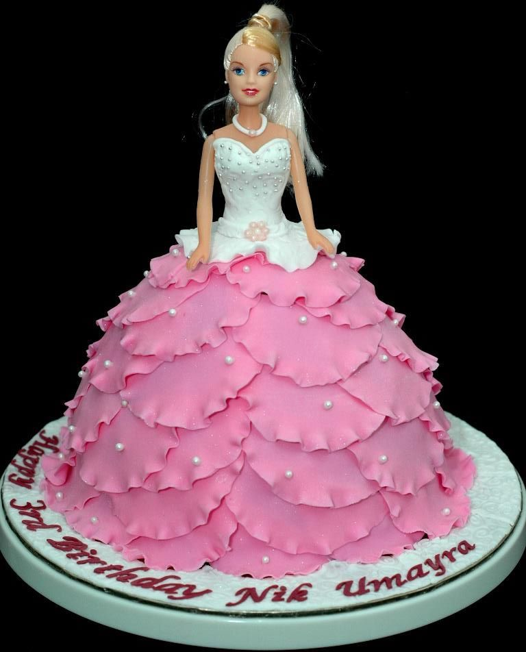 Barbie Doll Birthday Cake Tutorial