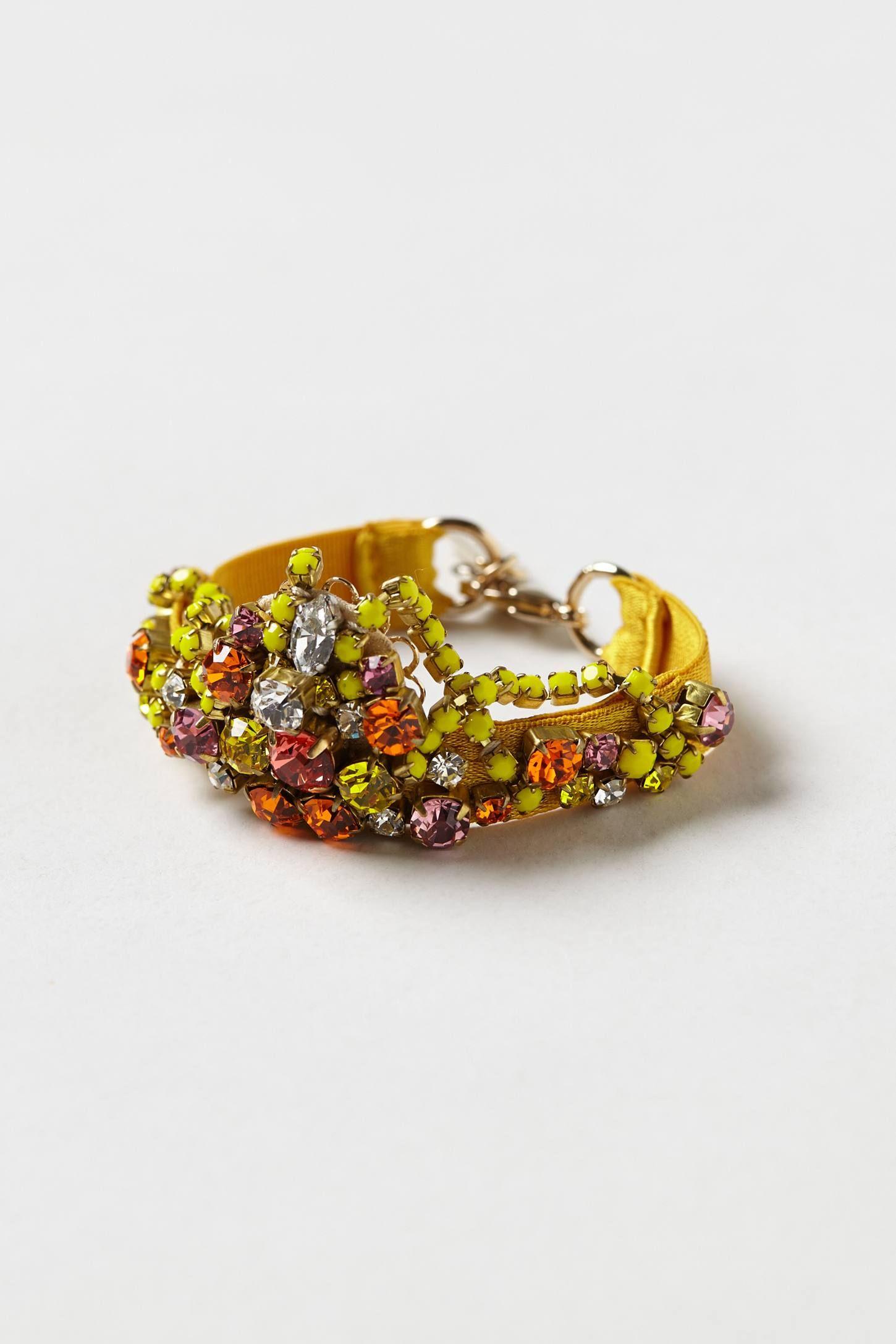By rada lobster clasp k gold polyester polyurethane swarovski