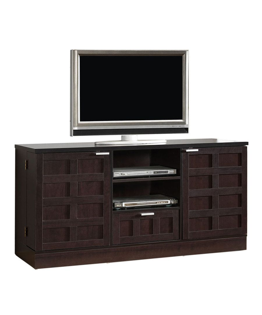 Look at this Dark Brown Modern Tosato Media Stand on #zulily today!