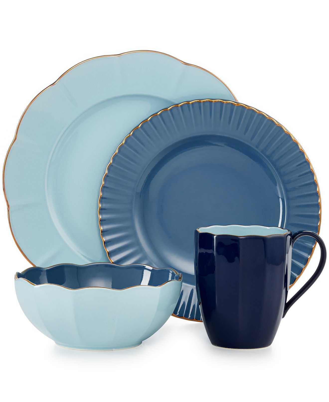 Marchesa by Lenox Dinnerware, Shades of Blue Collection - Dinnerware - Dining & Entertaining - Macy's