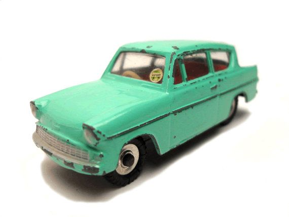 1950s Vintage Dinky 155 Ford Anglia Car Toy Collectible England