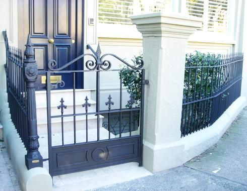 A Unique Wrought Iron Gate By Adoore Iron Designs Located In