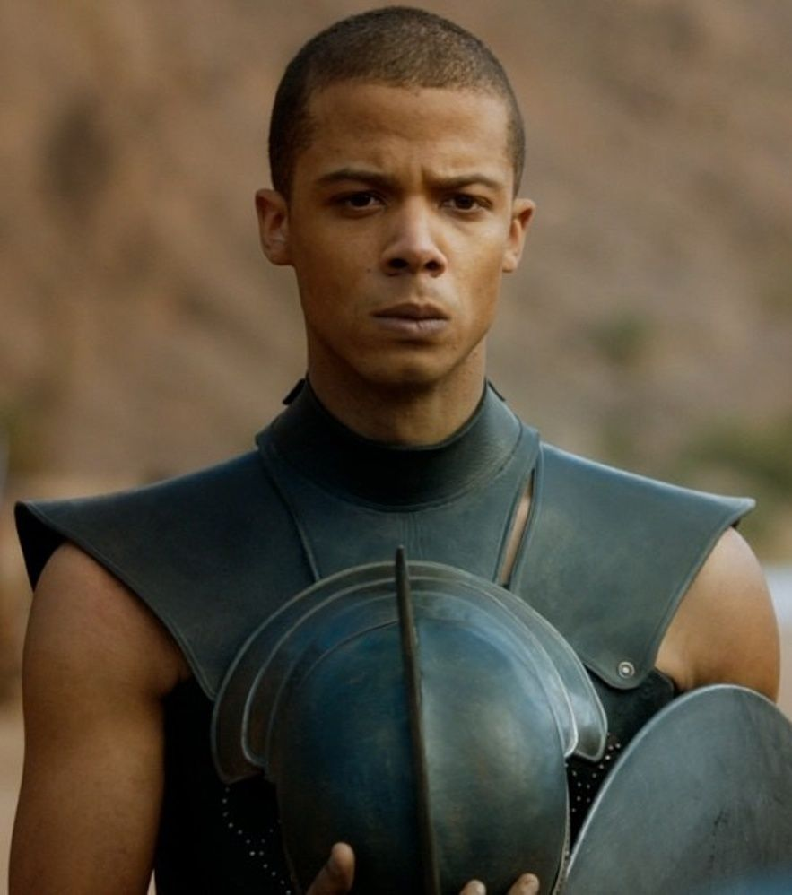 Grey Worm Commander Of The Unsullied The Warrior Eunuchs Of Astapor Whose Reputation For Combat Is Game Of Thrones Game Of Thrones Tv Game Of Thrones Books