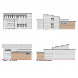 Fire station and extension plan and elevations dwg for Software progettazione giardini 3d free