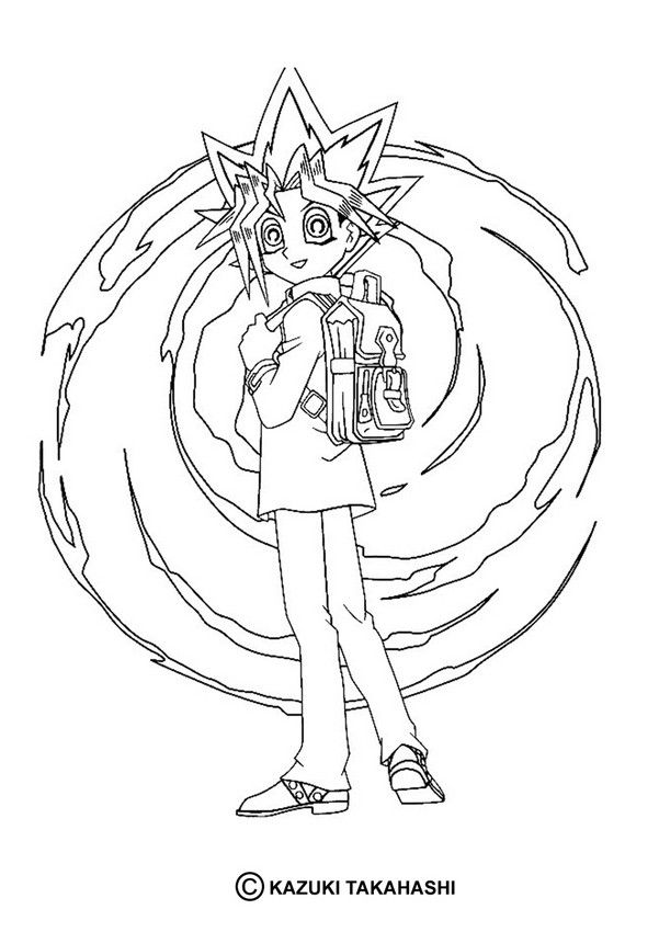 Kleurplaten Yu Gi Oh.Yu Gi Oh Coloring Page More Coloring Sheets On Hellokids Com