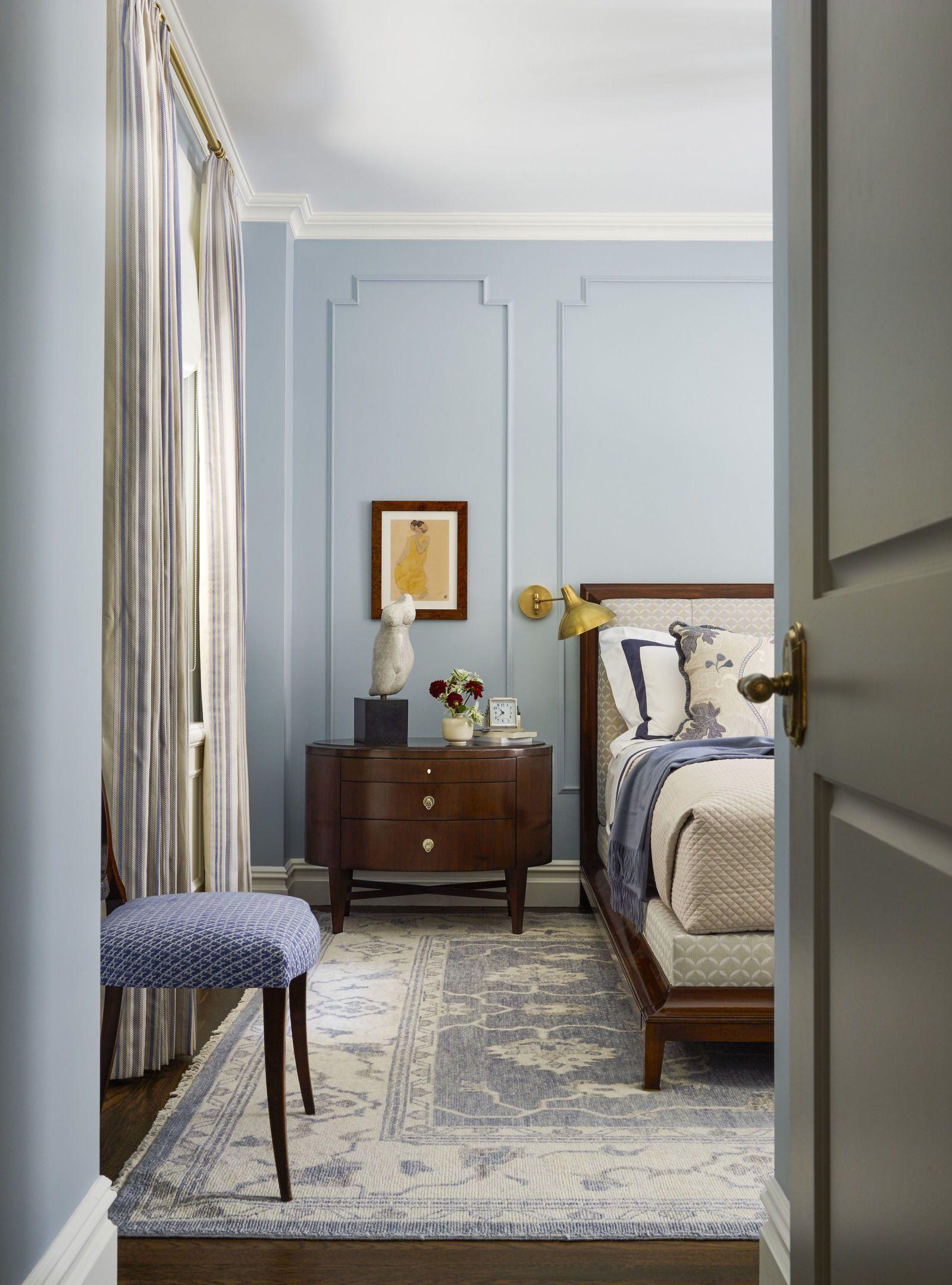 Inside Emmy Rossum's Manhattan Apartment Makeover Blue