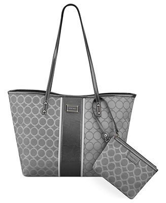 Nine West Handbag 9 Jacquard Medium Tote Handbags Accessories Macy S