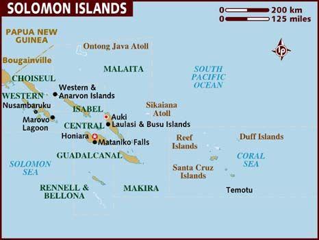 Map of Solomon Islands Maps Pinterest Solomon islands Solomon