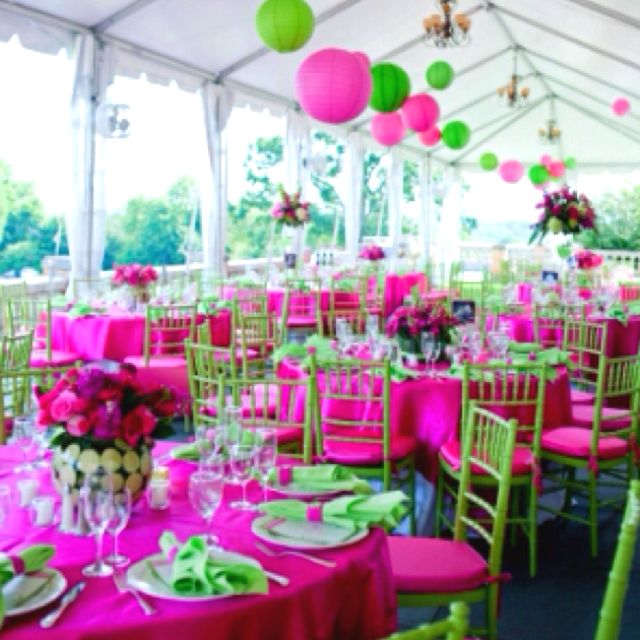 My Pink And Green Wedding Pink Green Wedding Wedding Decorations Lime Wedding