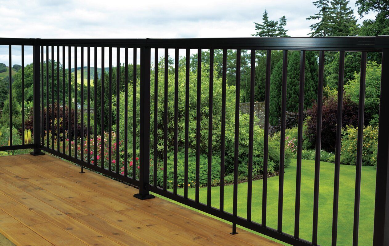 Vista Railing Vista Aluminum 3 5 Ft H X 4 Ft W Level Picket Pack With Spacers Aluminum Porch Railing Railing Outdoor Stairs
