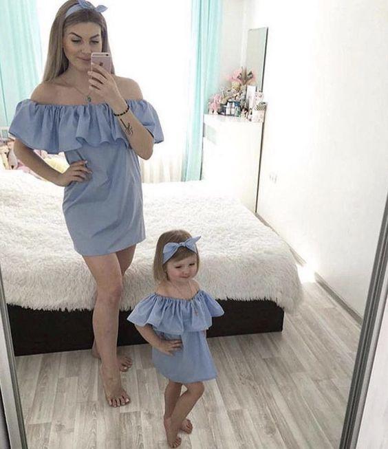 Vestidos para bebes y mamas