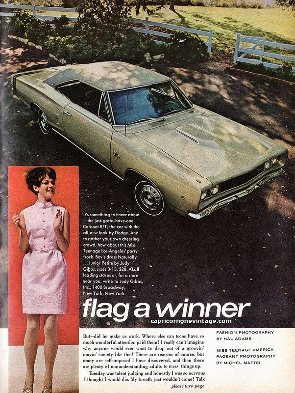 16a896609e 1968 teen magazine/miss teenage america/dodge promo 8 | vintage ...