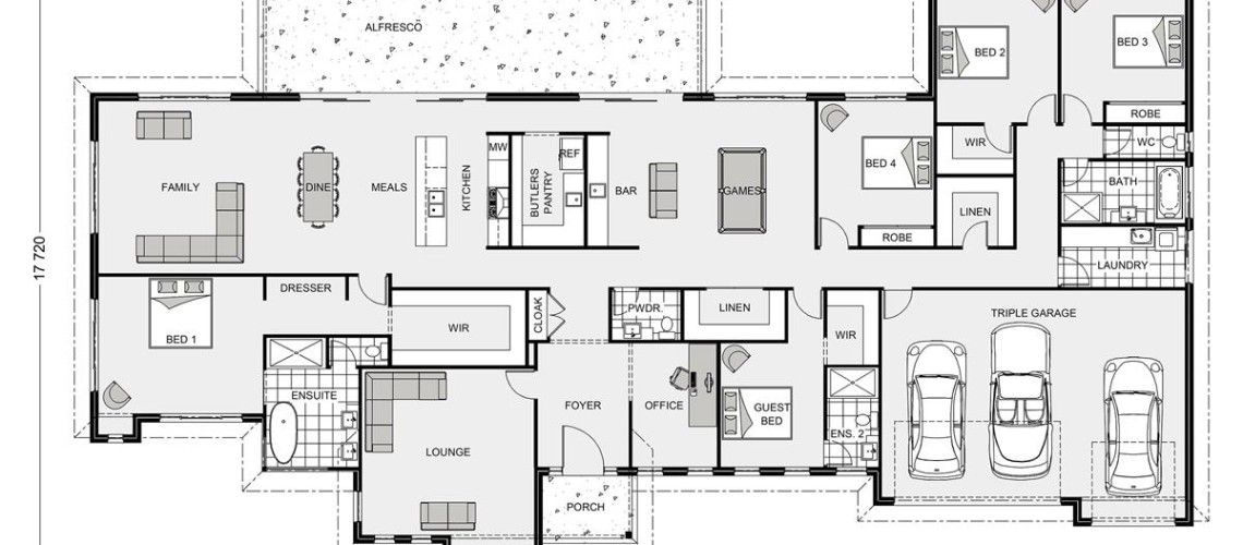 Floor Plan Friday: 5 bedroom acreage style home with triple garage ...