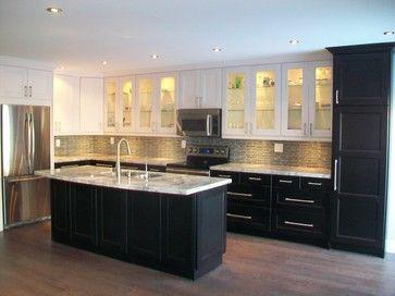 Best Ikea Kitchens Ramsjo White And Ramsjo Black Brown 400 x 300