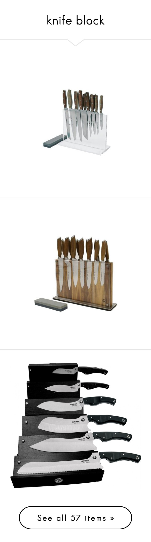 """knife block"" by aries-ariessw-sw on Polyvore featuring home, kitchen & dining, cutlery, tomato slicer, full tang knives, bread slicer, paring knife set, utility knives, tomato knives and chef cutlery"