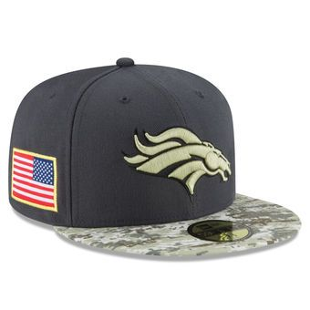 4f84a544303 Denver Broncos New Era Youth Salute To Service Sideline 59FIFTY Fitted Hat  - Graphite Camo