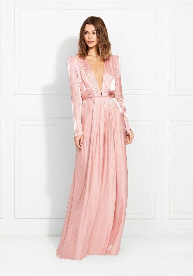Rachel Zoe Rosalie Liquid Chiffon Gown The Fashion Catalyst Maxi Dress With Sleeves Long Sleeve Maxi Dress Chiffon Gown [ 1143 x 800 Pixel ]