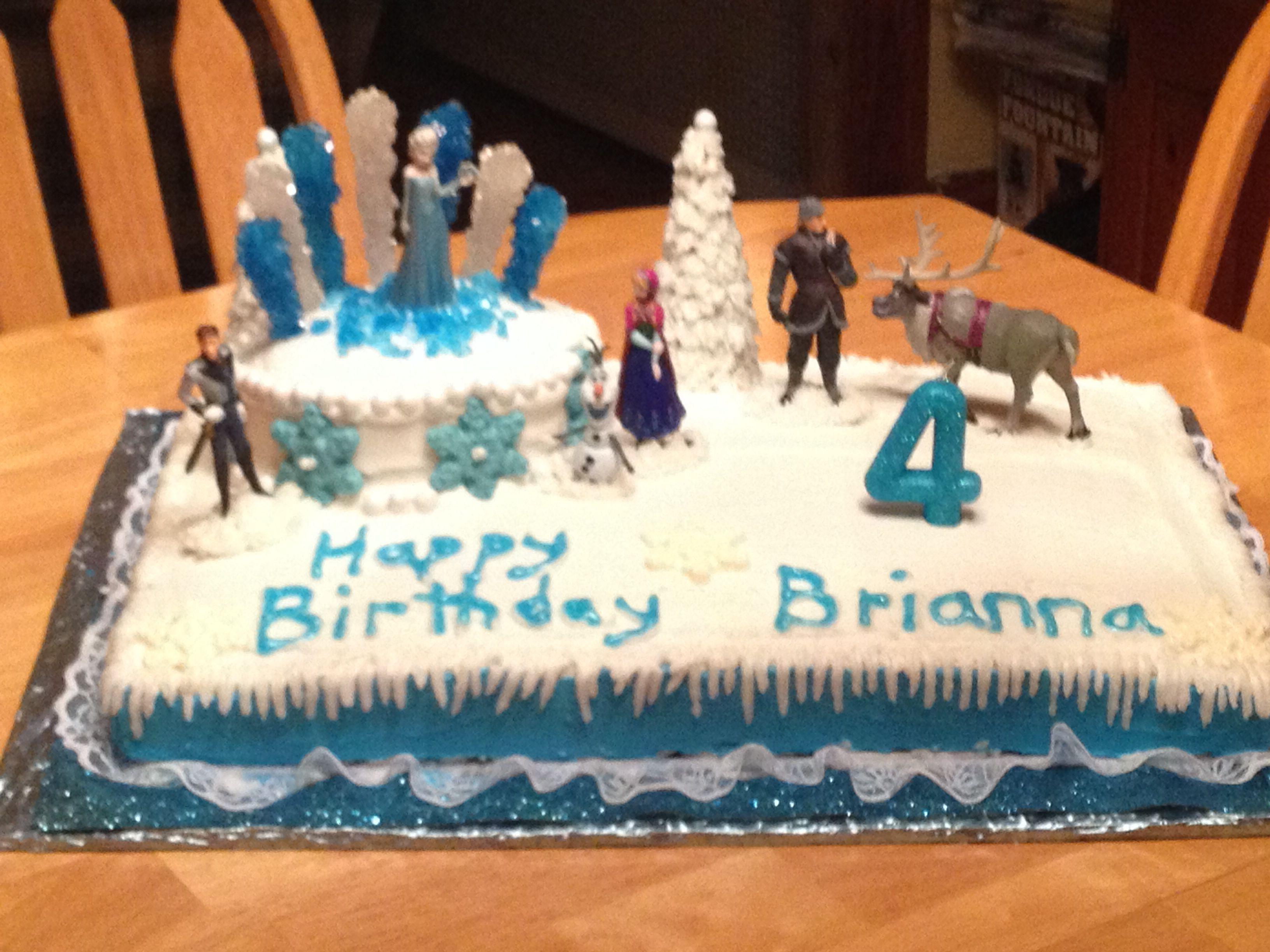 My Daughter S Homemade Frozen Cake Party Cakes Homemade Frozen