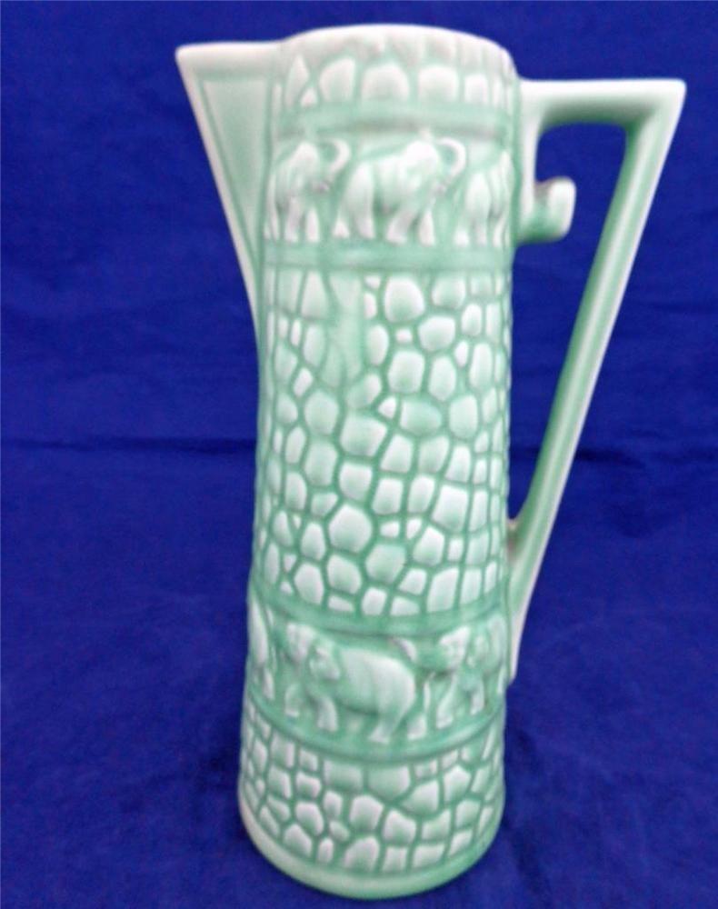 Vintage green glazed pottery jug elephants delcroft ware no 320 vintage green glazed pottery jug elephants delcroft ware no 320 art deco 1930s reviewsmspy