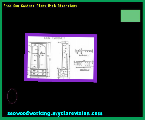 Free Gun Cabinet Plans With Dimensions 121157   Woodworking Plans And  Projects!