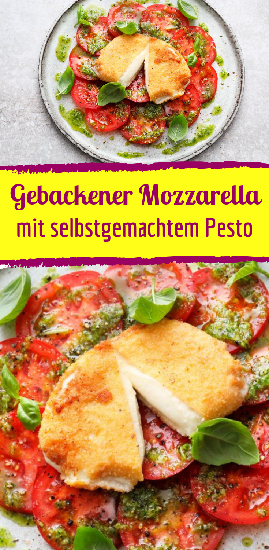 Gebackener Mozzarella Caprese mit selbstgemachtem Pesto  #beefhealthyrecipes