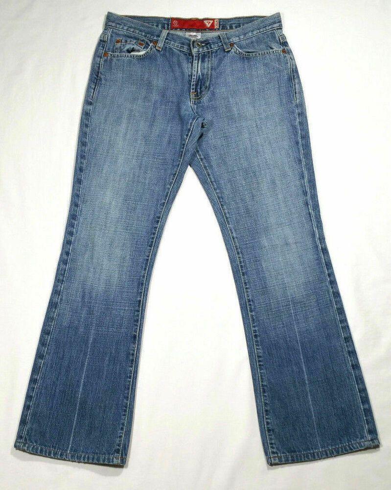 Guess women size 28 inseam 28 bootcut jeans blue medium