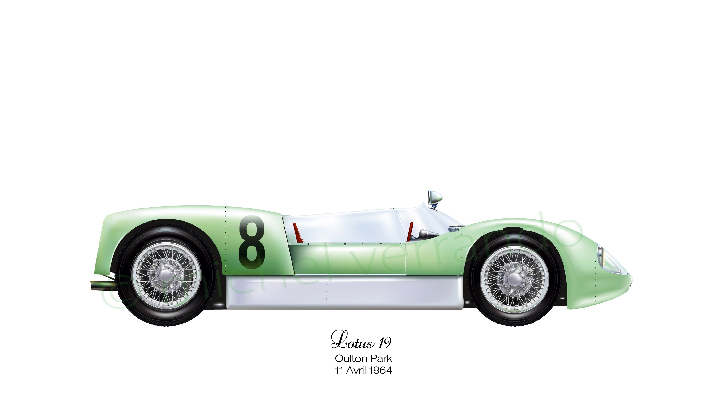 lotus 19 oulton park 1964 cars pinterest dessin. Black Bedroom Furniture Sets. Home Design Ideas