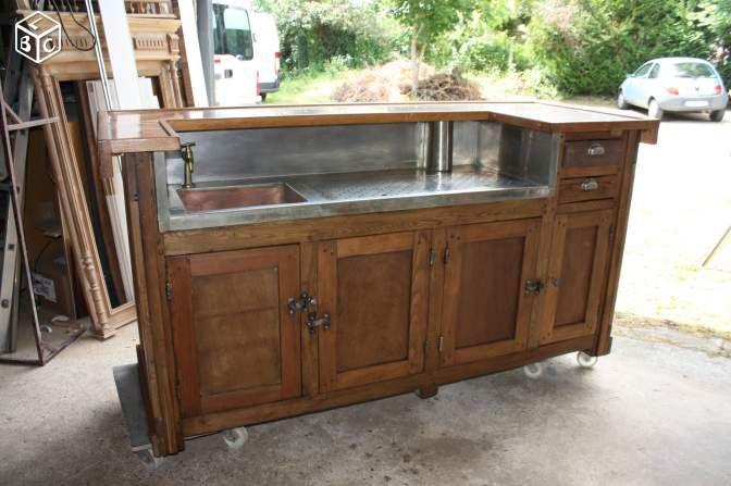 Comptoir De Bistrot Mobilier De Salon Comptoir De Bar Cuisine Vintage