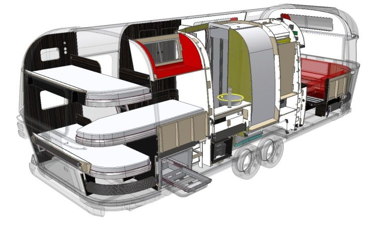 Airstreaminternational new european airstream with for European beds for sale