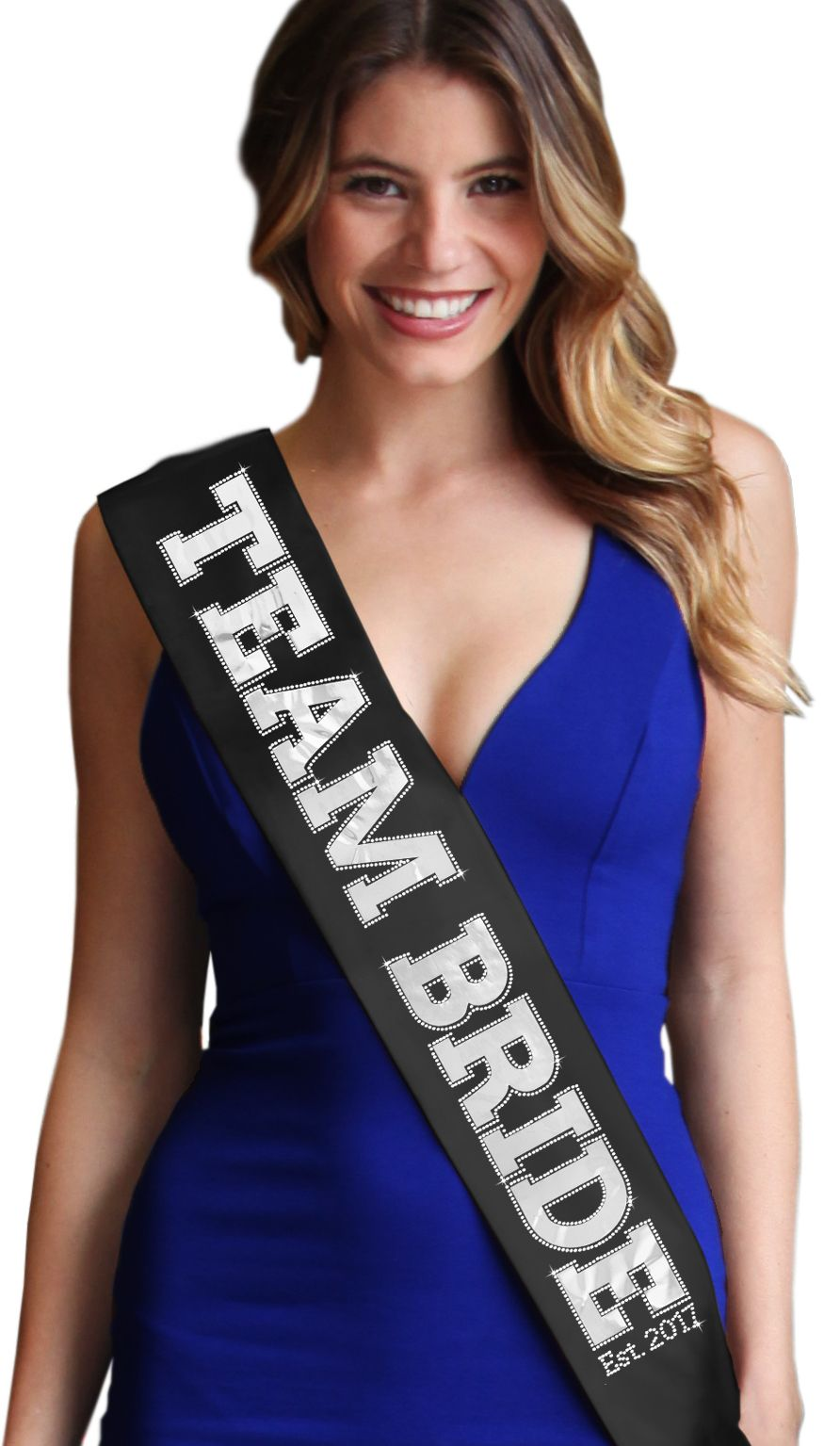 Team colored sashes for dresses
