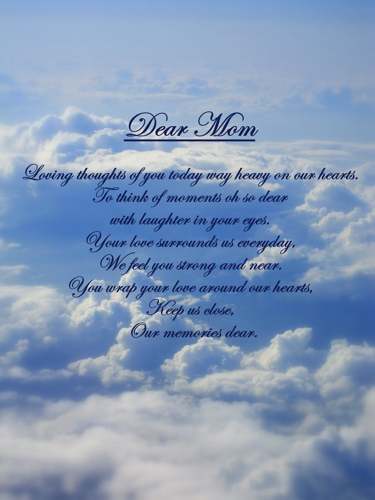 Miss My Mom, Miss You And Mothers