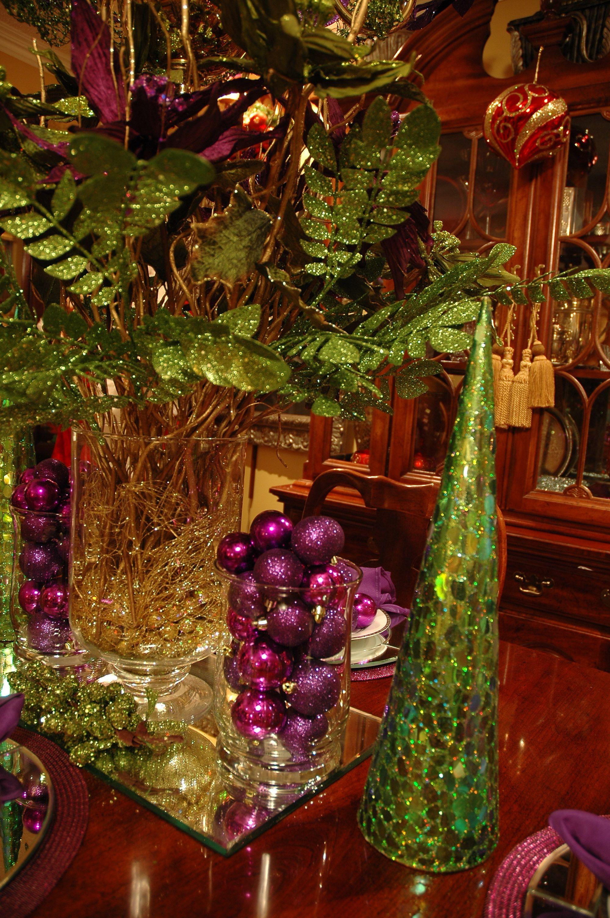 Boho Table Christmas Display Dining Table Christmas Table Decorations Purple Christmas Decorations Christmas Table Settings