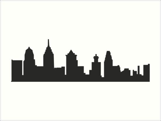 Philadelphia Pa Philly Skyline Art Print By Michellegriff90 Philadelphia Cityscape Skyline Art Philadelphia Skyline