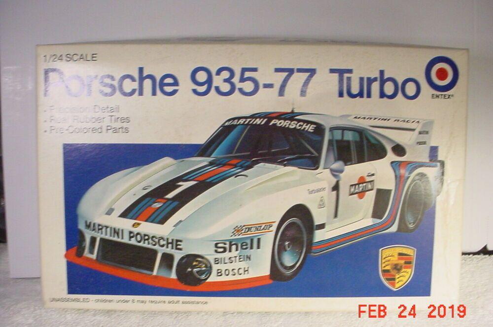 Porsche 935 77 Turbo Martini 1 24 Entex 9578 Model Kit Parts Or Restore Entex Porsche 935 Model Kit Porsche