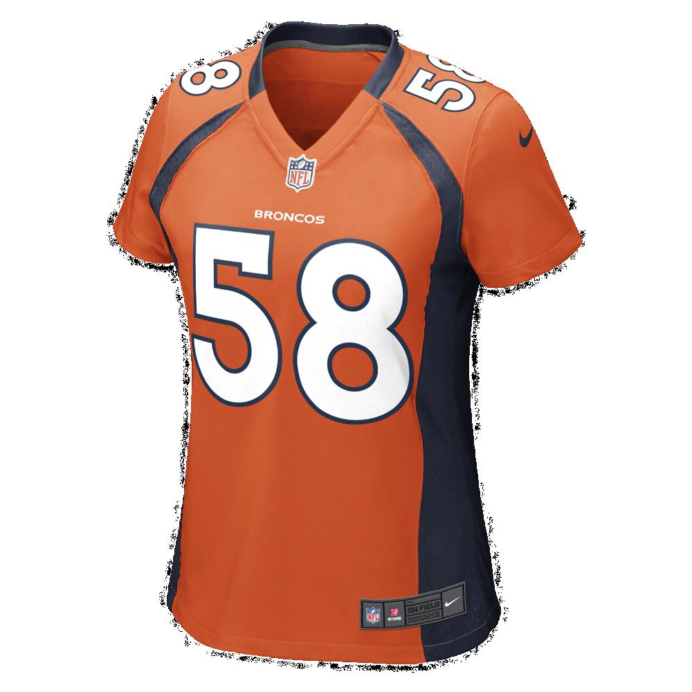 Nike NFL Denver Broncos (Von Miller) Women s Football Home Game Jersey Size  Medium (Orange) 81491995fc399