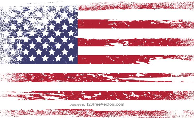 Distressed American Flag Vector Flag vector, Flag