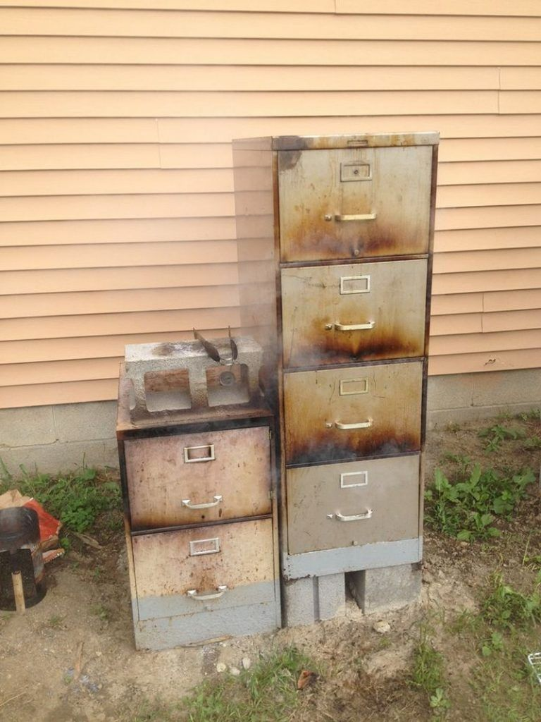 Extraordinary Filing Cabinet Smoker Turn That Filing Cabinet Into A Smoker Pinterest File Cabinet Smoker Problems File Cabinet Smoker Ghetto