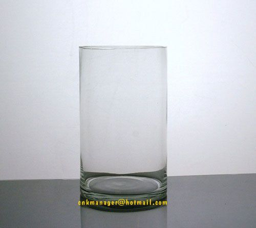 6openingx 10height Cylinder Round Clear Glass Vases 12 Pc