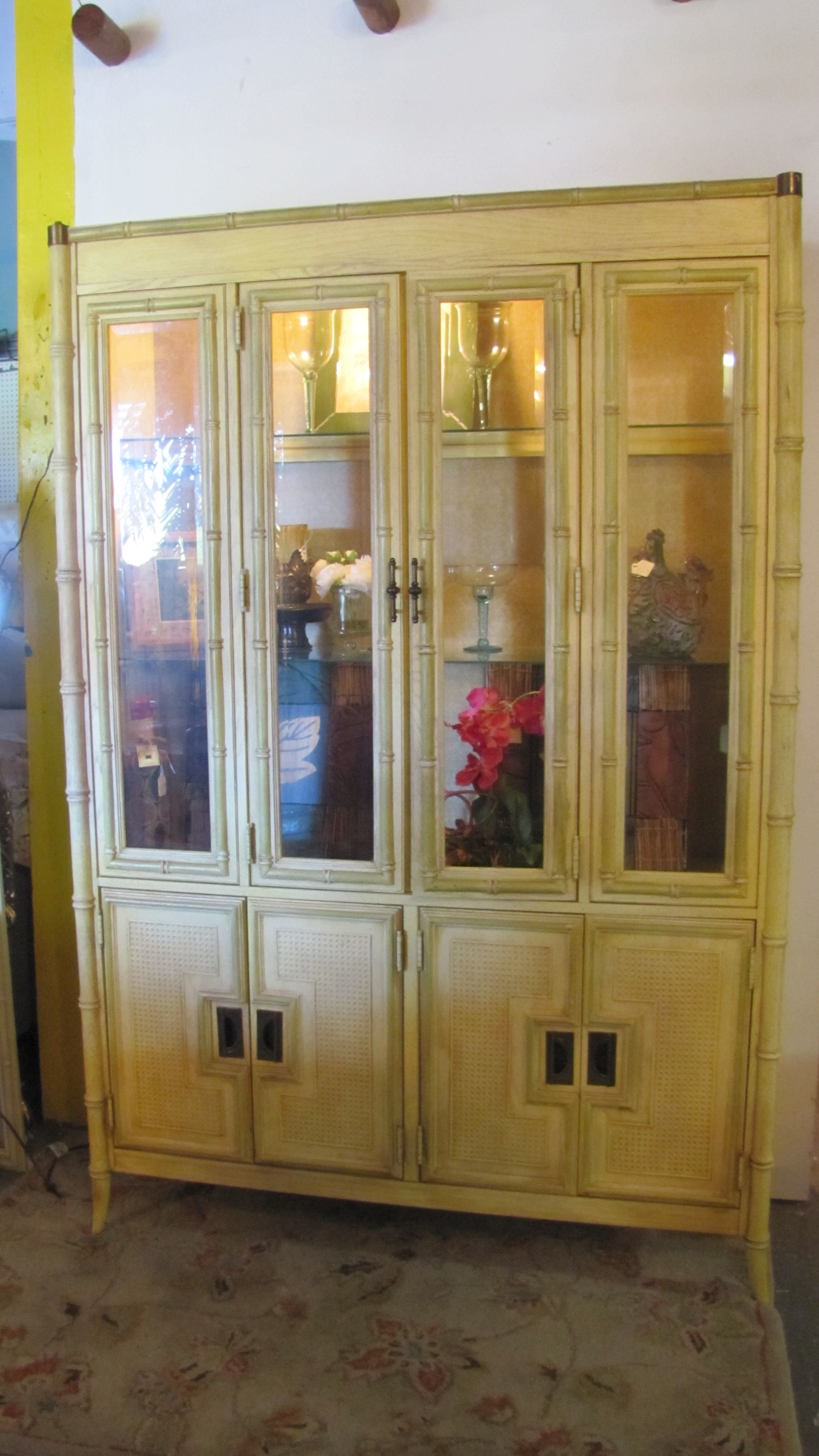 Amazing Faux Bamboo China Cabinet By StanleyI So See This In A