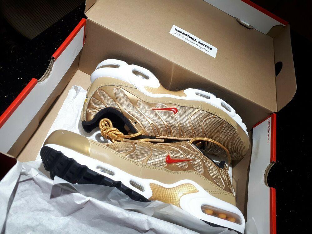 6018da411d Authentic Air Max Plus QS TN Metallic Gold size 9 men's 903827 700 Super  rare #Nike #RunningShoes