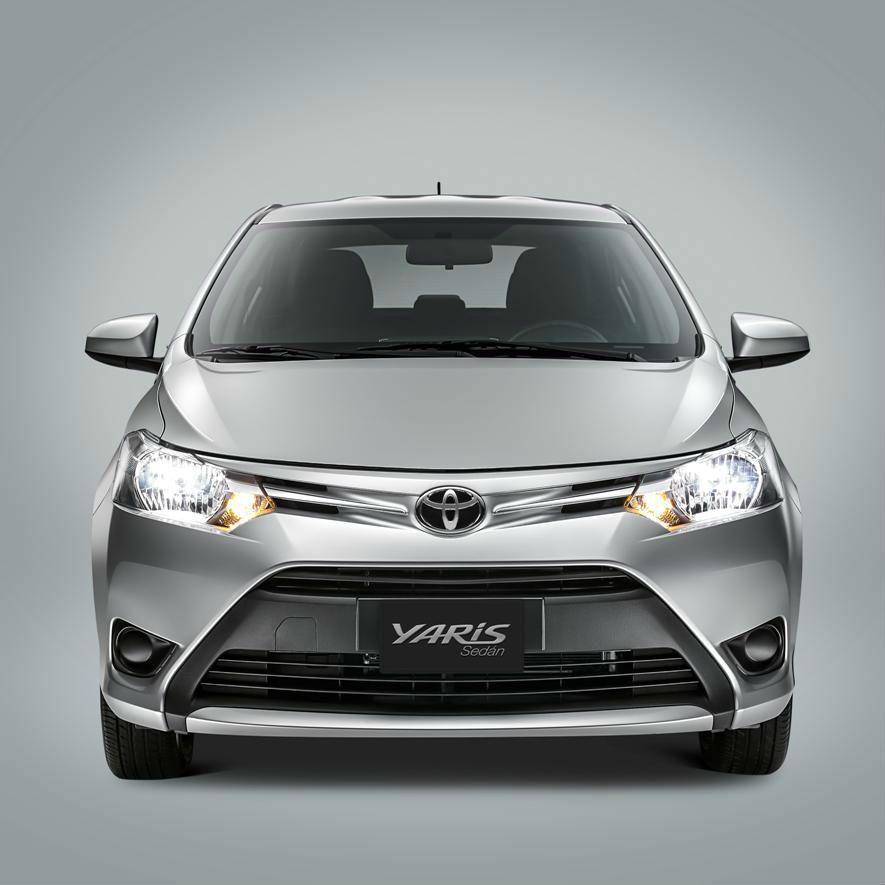 New Toyota Yaris Sedan On Stage Toyota Yaris Sedan