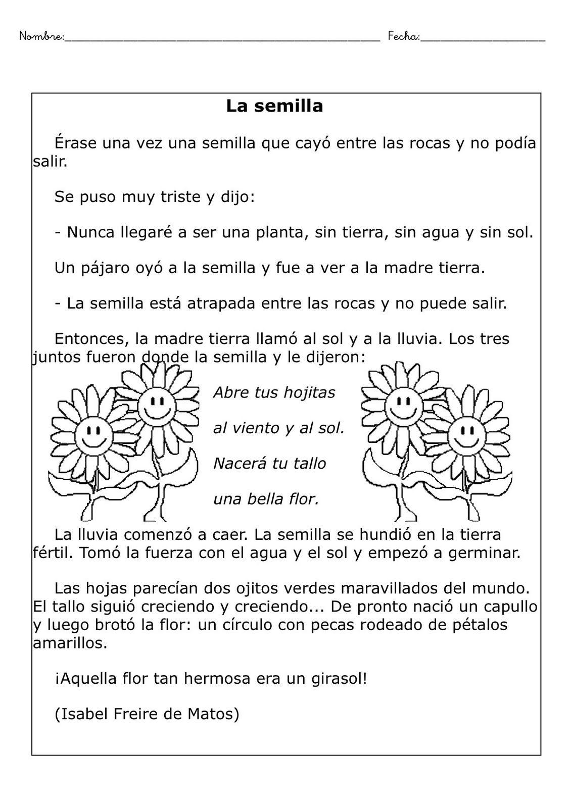Fichas comprensión lectora | ELE para niños | Pinterest | Spanisch ...