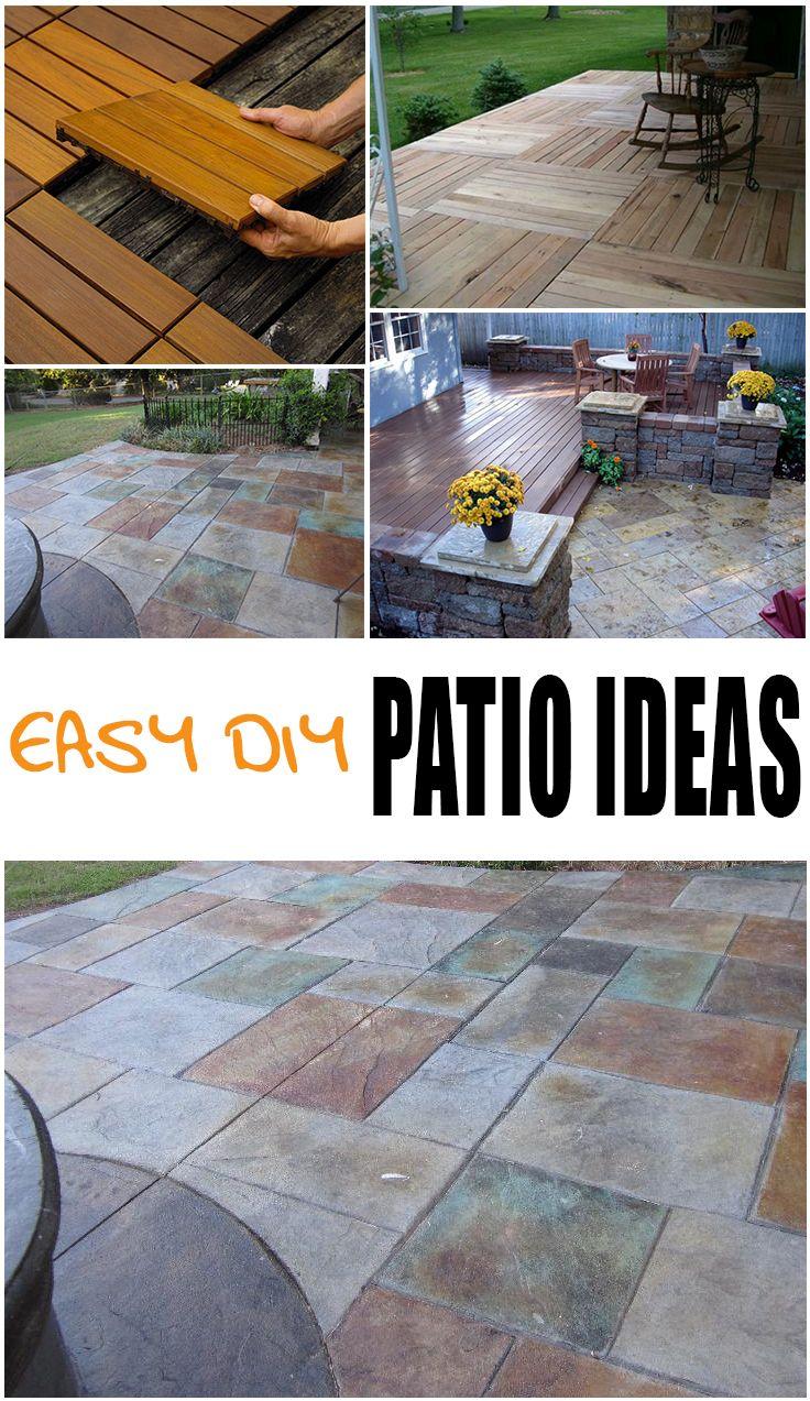 easy diy patio ideas diy patio patios and tutorials