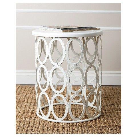 Vista End Table - White - Abbyson Living