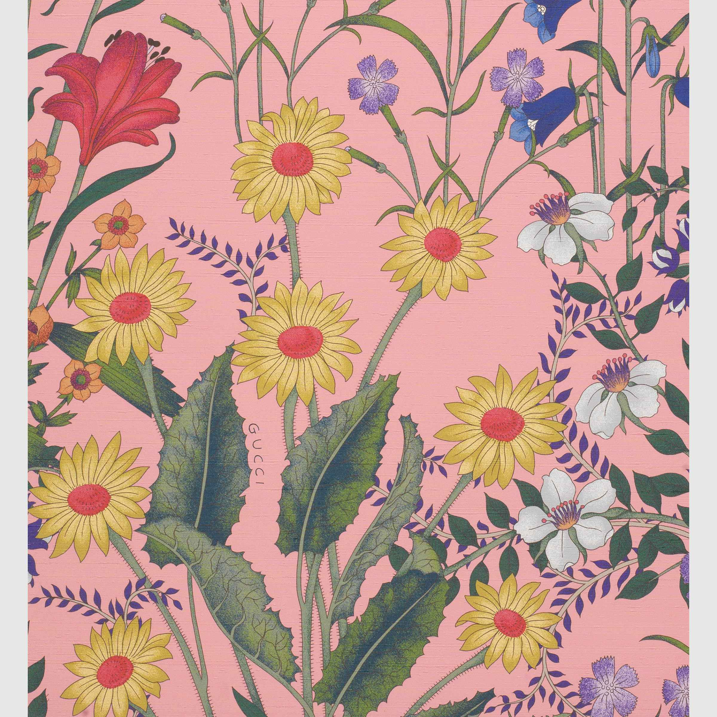 Gucci New Flora print wallpaper Print wallpaper, Flora